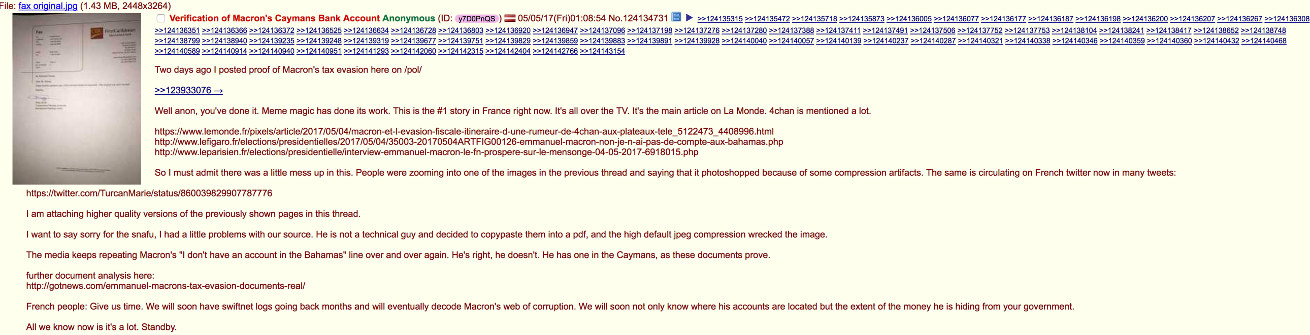 4Chan on Friday after deception uncovered on MacronLeaks