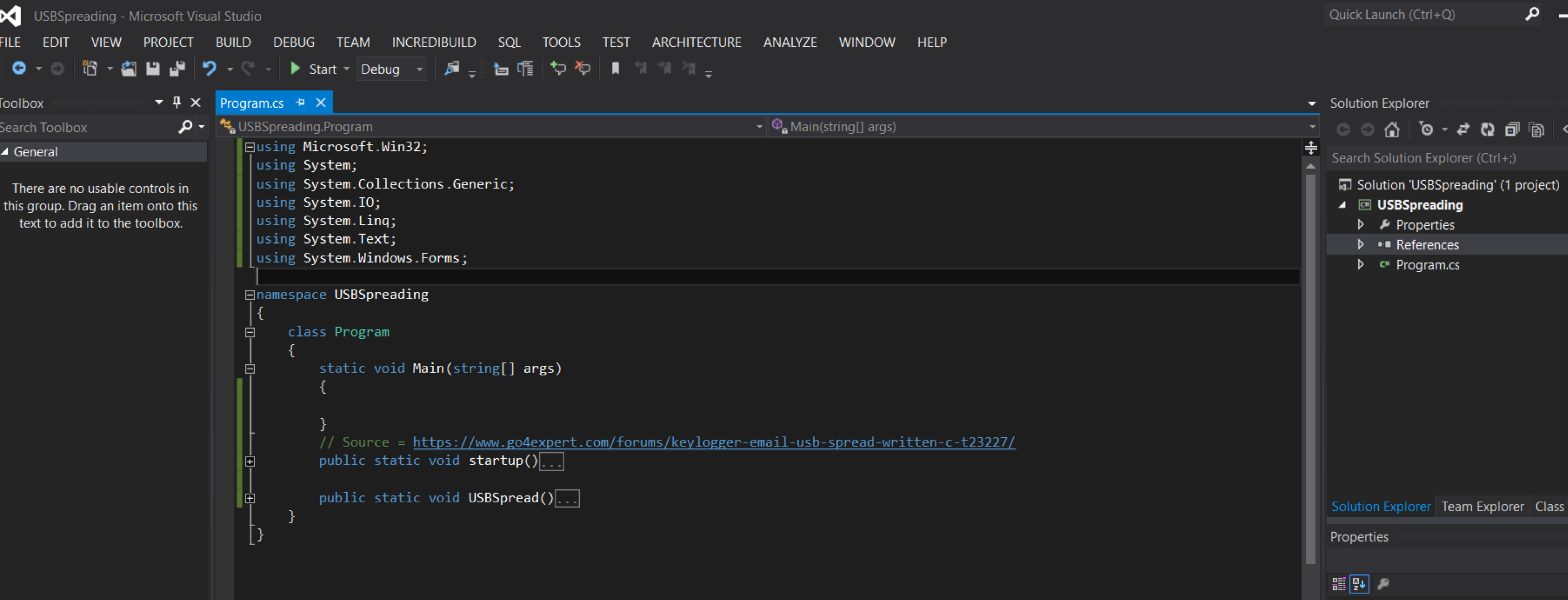 creating a console project in C# Penetration Testing