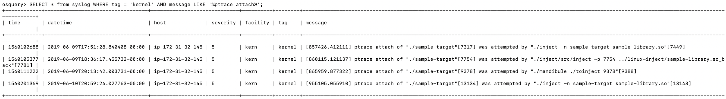 monitor specific syslog