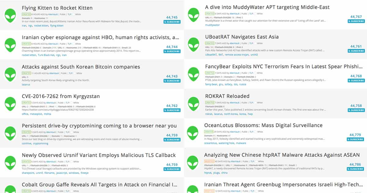 AlienVault Open Threat Exchange Hits Major Milestone with