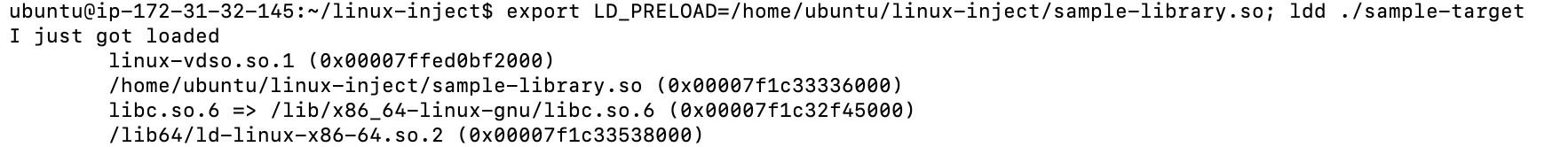 Ubuntu executing LD_PRELOAD