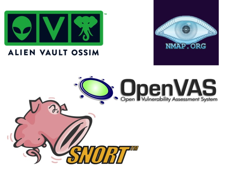 Network security monitoring tools include technologies like NMAP, OpenVAS, Snort and AlienVault OSSIM