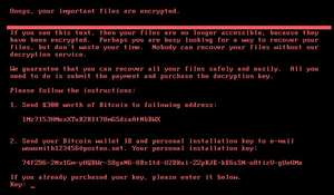 petya ransomware text message