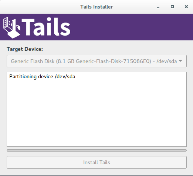 tails OS installer