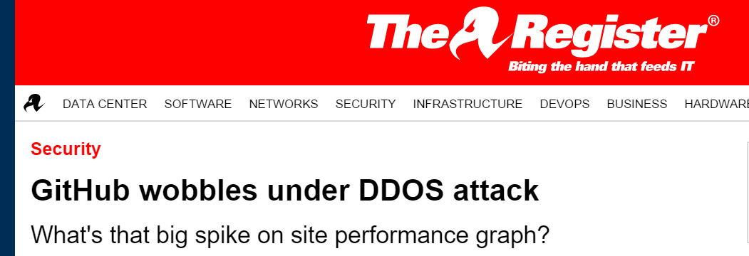 Distributed Denial of Service Attack Example – GitHub Wobbles Under DDoS Attack