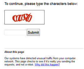 google captcha when using Google hacking