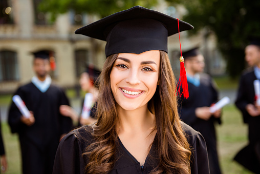 young woman graduating college