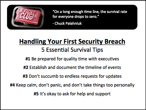 5 survival tips for how to handle your first security breach