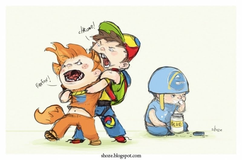 IE versus Firefox and Chrome
