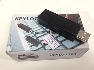 keyloggers can be software or come on a USB