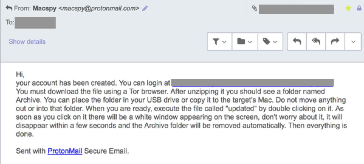 MacSpy email