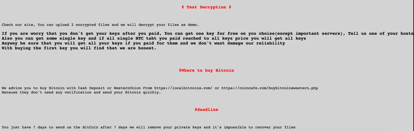 SamSam is a new ransomware variant