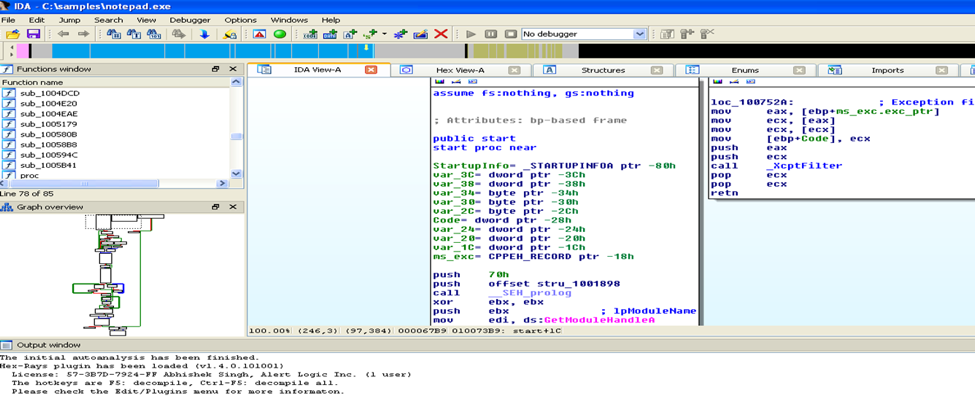 reverse engineering malware - IDA Pro