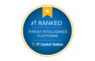 #1 Ranked Threat Intelligence Platform by IT Central Station