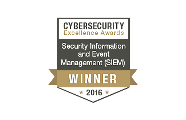 Cybersecurity Excellence Awards 2016 Winner SIEM