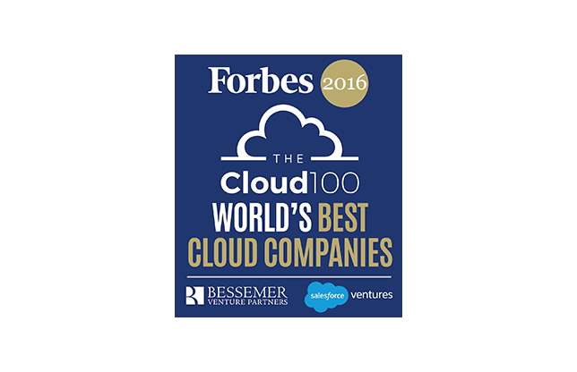 Forbes List of the World's 100 Best Cloud Companies 2016