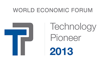 2013 Technology Pioneer by the World Economic Forum