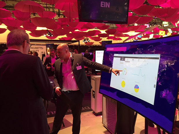 cebit 2015 demoing in booth