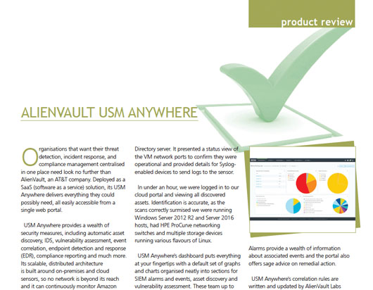 AlienVault USM Anywhere Review by Computing Security