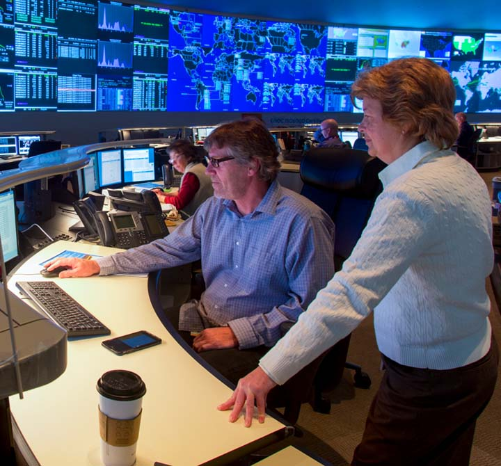 24x7 monitoring by AT&T Security Network Operations Center