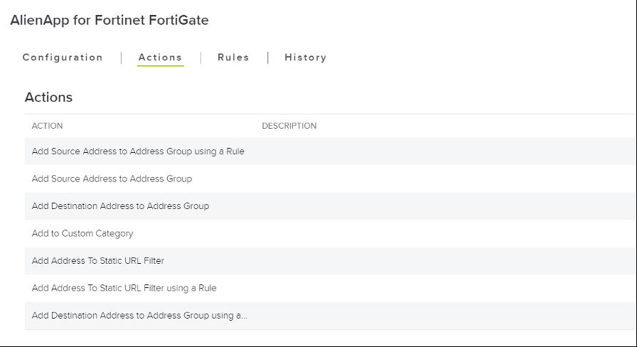 AlienApp - fortigate