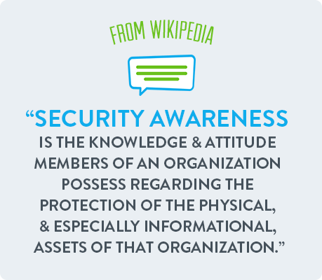 Security awareness is the knowledge & attitude members of an organization possess regarding the protection of the physical, & especially informational, assets of that organization.